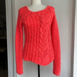 Free People Hot Tottie Chunky Sweater Small Neon